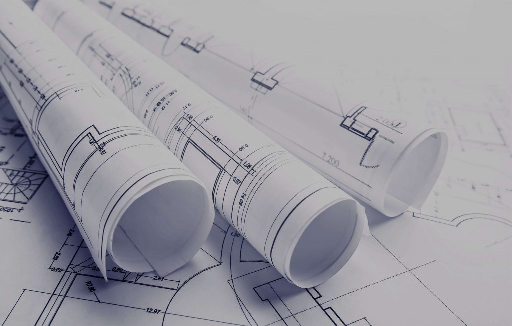 Ground preparation and drawings for construction of warehouse III