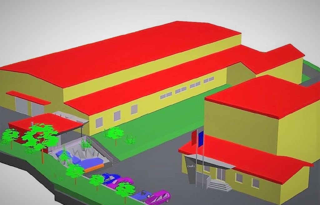 Warehouses I and II joined into one main warehouse linked to construction of training centre